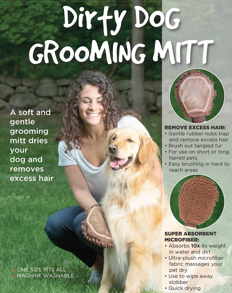 Dirty Dog Micro-fibre Grooming Mitt by DGS
