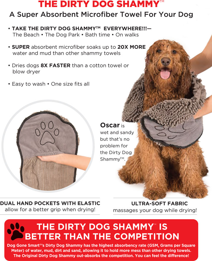 Dirty Dog Shammy - Top Rated Dog Drying Towel