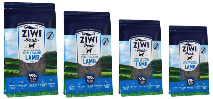 Ziwi Peak air-dried New Zealand Lamb, the ideal natural puppy food