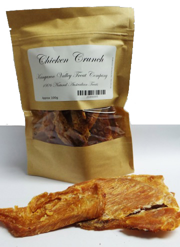 Kangaroo Valley Chicken Crunch natural dog treats
