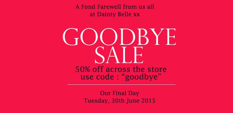 Goodbye Sale 2015