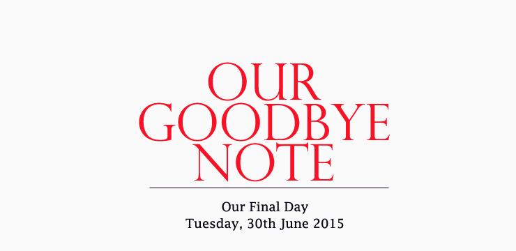goodbye note 2015
