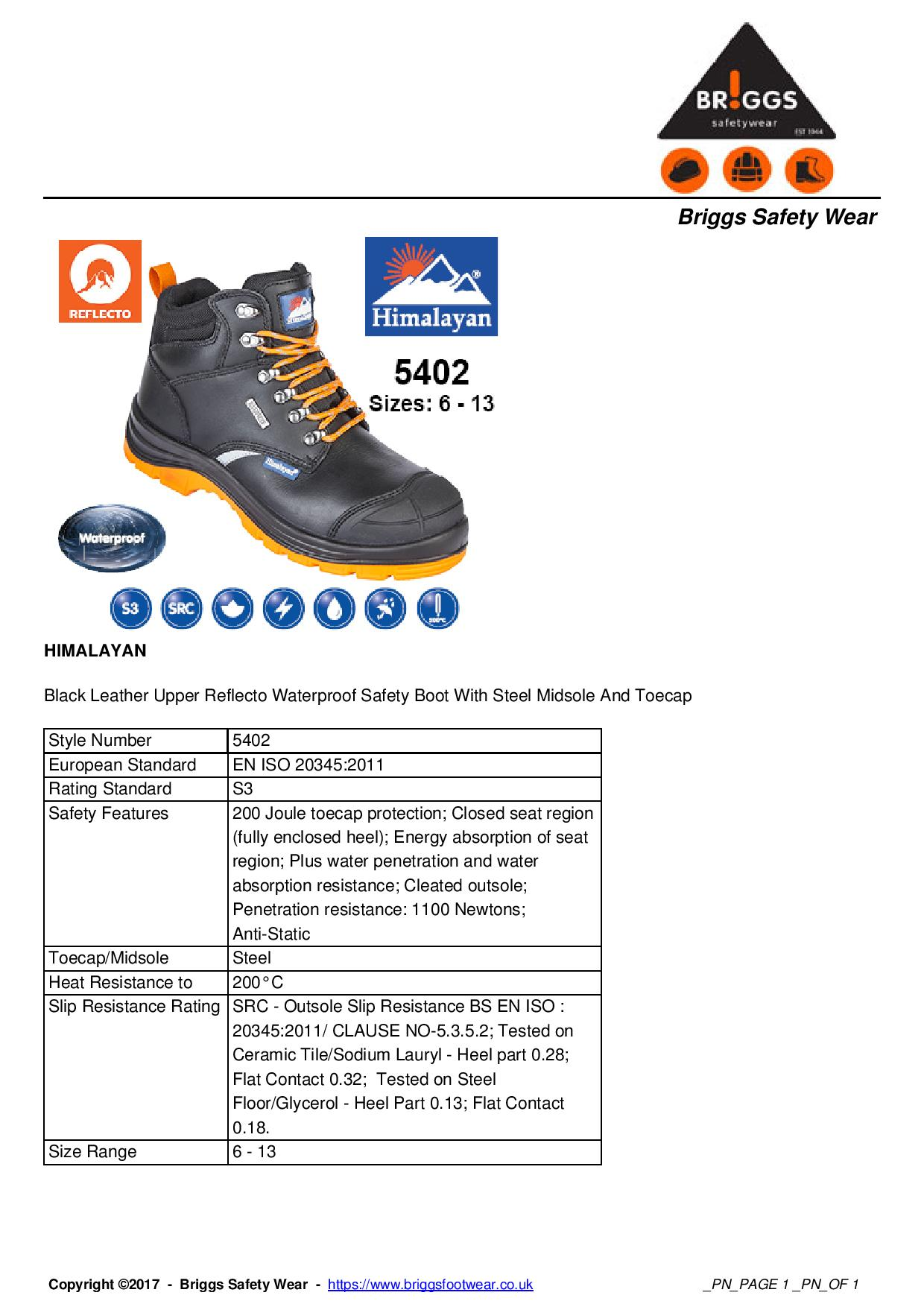 6f779b136a7 S3 SRC - Himalayan Black Leather Upper Reflecto Waterproof Safety ...