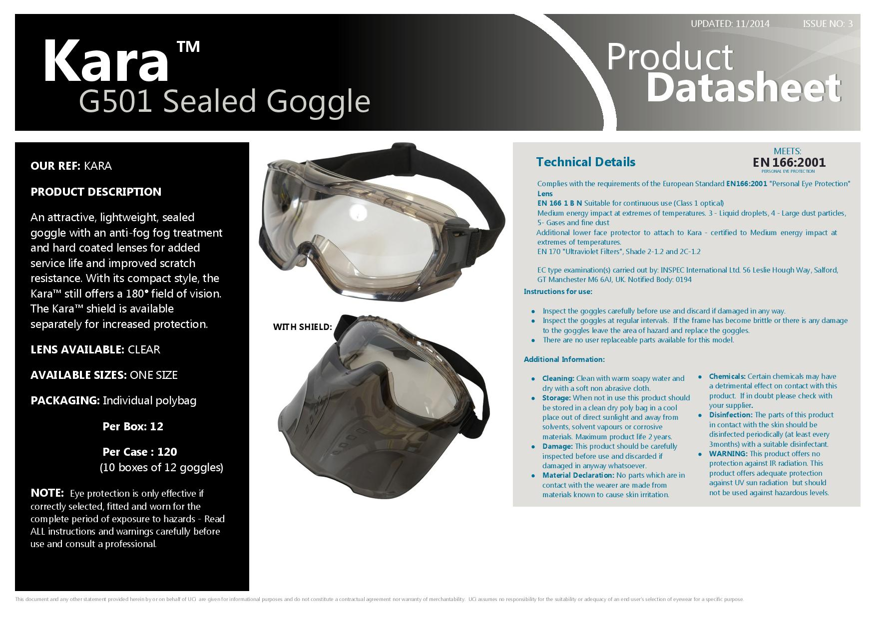 JSP AGN020-441-300 Atlantic IV Polycarb Lens Anti-Mist Goggles