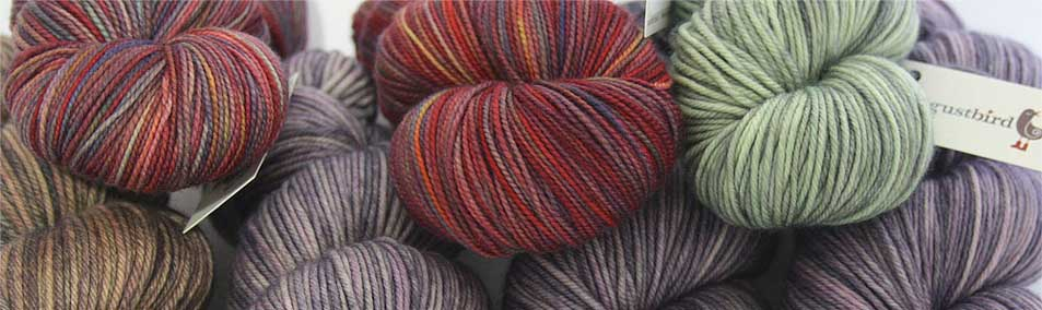 Augustbird hand dyed yarn and little treasures