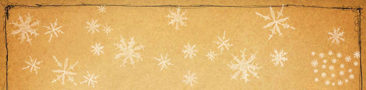 Background top with snow flakes