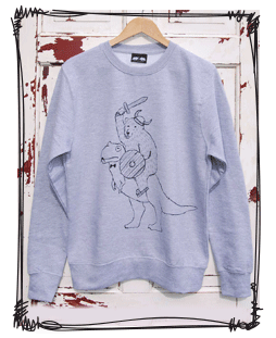 Warrior bear jumper in frame