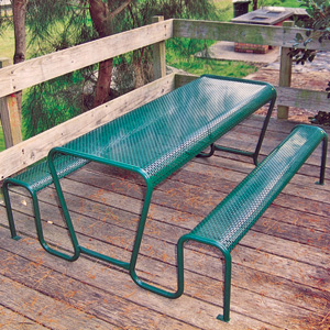 C0035 perforated metal picnic setting