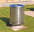 LSM480 Perforated Stainless Litter Bin