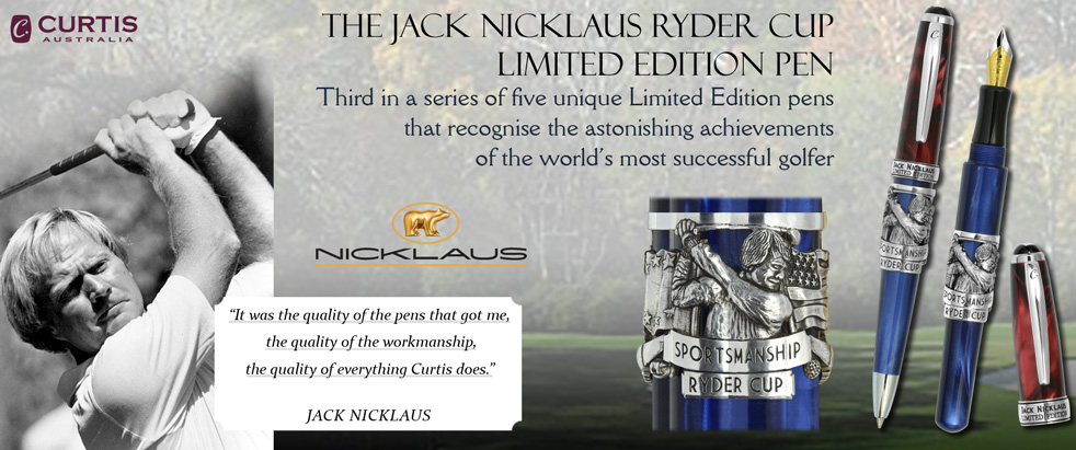 Jack Nicklaus Ryder Cup Limited Edition Pens