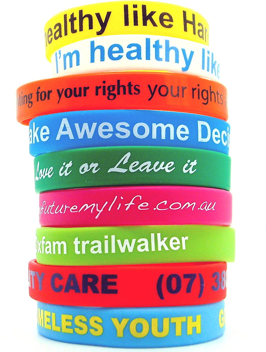 Wristbands  Silicone From $066ea Budget Lanyards From $060ea