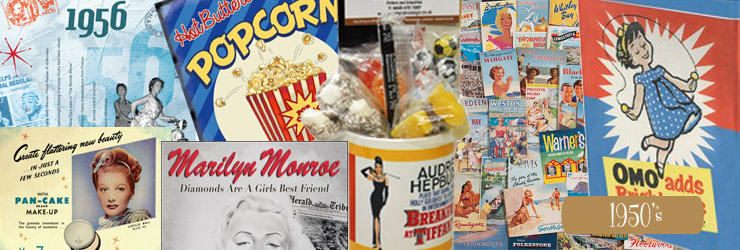 1950's GIfts, great for 60th Birthday Presents.Audrey Hepburn, Elvis, Marilyn Monroe, James Dean..
