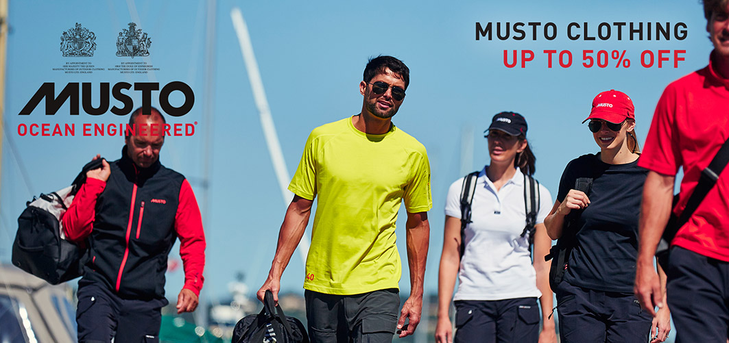 Musto Clearance Sale | Up to 50% off selected Musto Sailing Gear and Wet Weather Gear