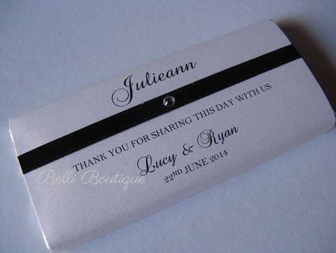 Chocolate Bar Wrapper Belli Boutique Melbourne Wedding