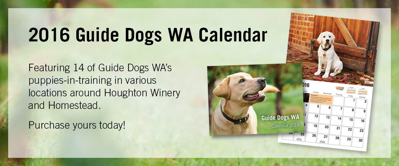 Purchase your 2016 Guide Dogs WA Calendar now.
