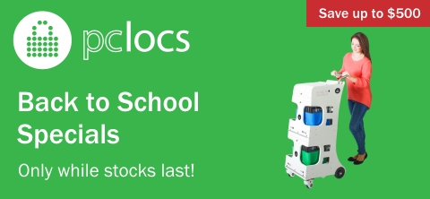 PCLocs iPad and Tablet charge and sync solutions