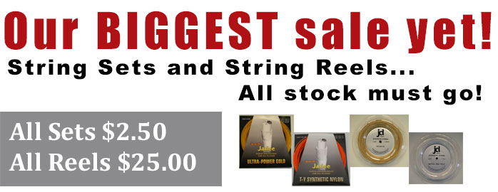 Tennis String Clearance Sale
