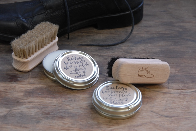 Shoe Shine Brush and Polish