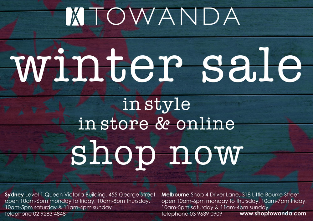TOWANDA - winter sale on now