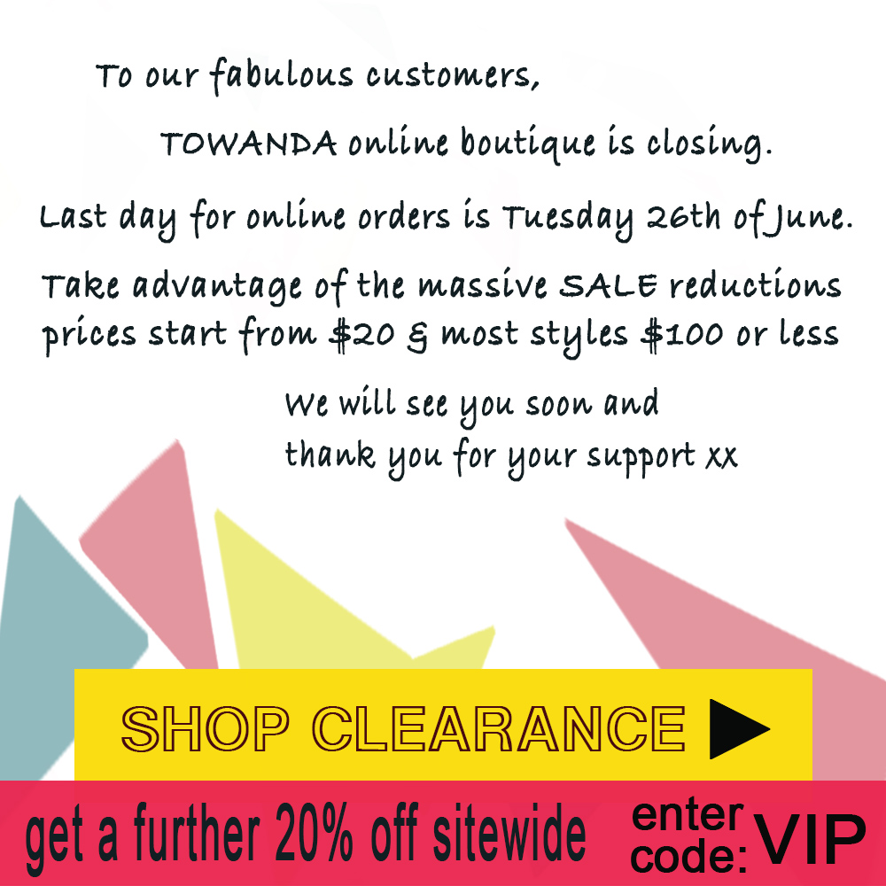 MASSIVE CLEARANCE closing 26th June