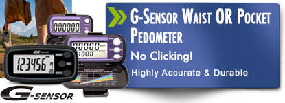 G-Sensor accelerometer best pedometer. Very accurate and reliable with sring loaded clip.