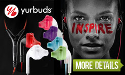 yurbuds earphones available at Pedometers Australia