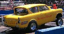 Anglia gasser dragster 250 Ford Crossflow