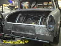 Ford Anglia gasser drag car body repair