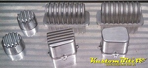 Automotive wiring port coil covers and electrical relay covers for Hot Rods