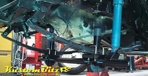 Bolt in gasser axle kits for drag cars
